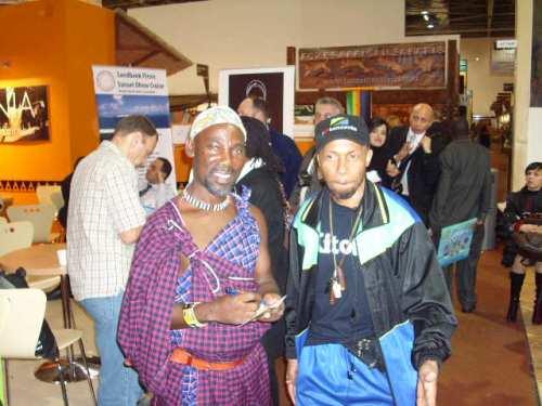Mdau wa Kitoto nikiwa na Kiongozi wa Sisi Tambala, Kibiriti Nanjuja